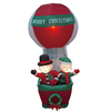 inflatable Christmas decoration snowmen on hot air balloon
