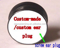 NO MOQ crazy cool cheap fashion acrylic custom ear gauges plugs body piercing jewelry