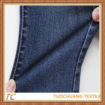 good quality cotton poly spandex indigo denim