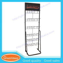 modern fitted floor standing commercial hats rack display metal