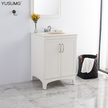 Antique Simple Creamy Hotel Bathroom Vanity