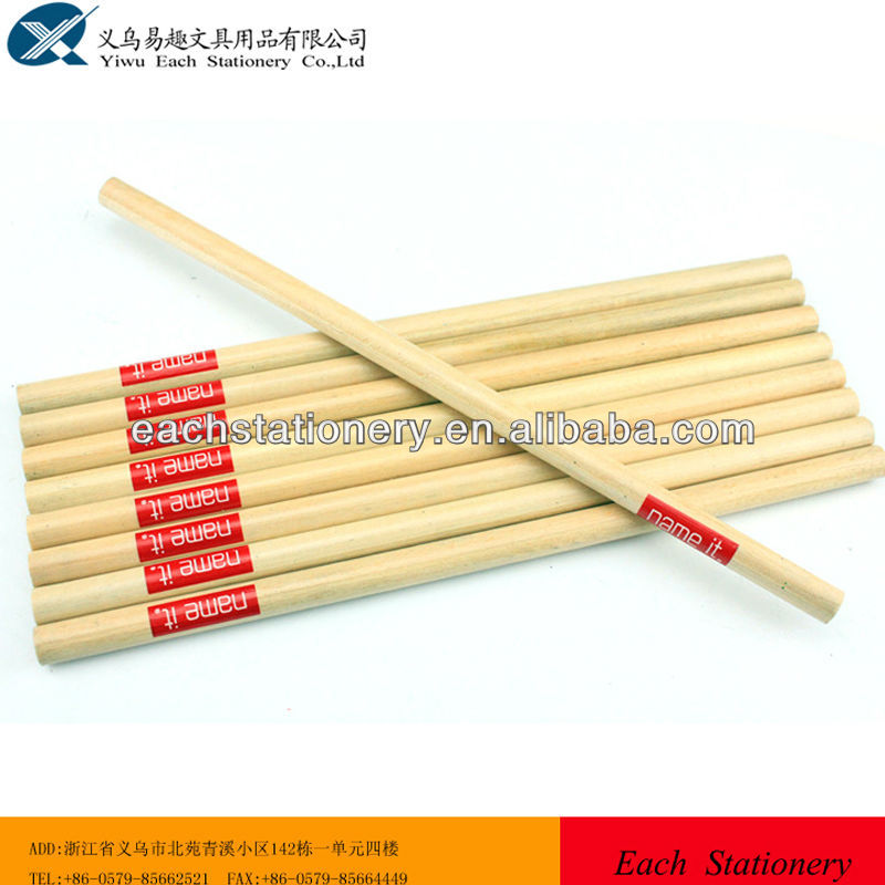 High quality 7inch natural wood hb both side sharpen cutted pencil logo available