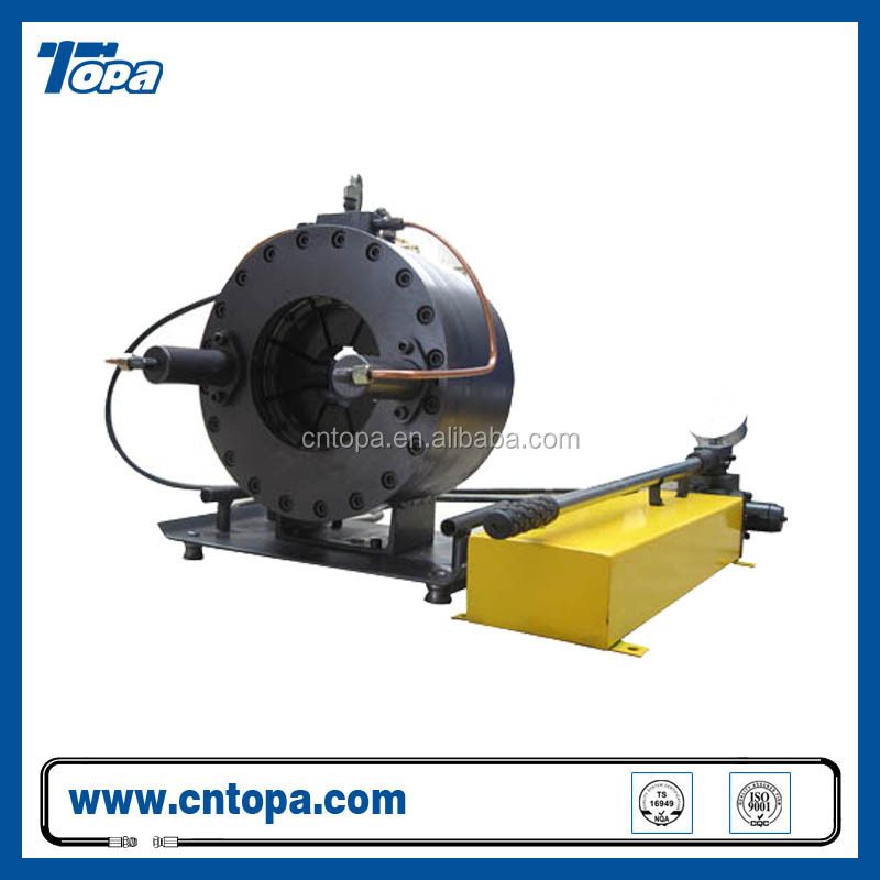 China manufacturer high pressure electric hydraulic hose fitting crimper/crimping machineTOPA-91S