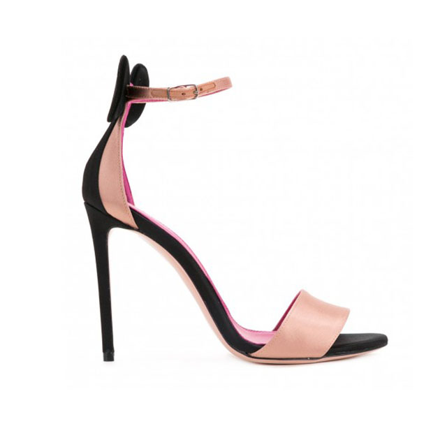 women open toe minnie decoration ankle strap pink insole stiletto high heel <strong>sandals</strong>