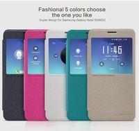Visual Flip Leather Case For Samsung Galaxy Note 5 N920 NILLKIN Sparkle Phone Case Cover