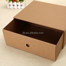 Beautiful decorative kraft paper box slide open box for mobile phone package
