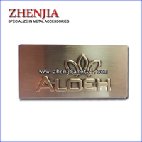 gold color Metal label plate