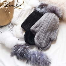 Factory Wholesales Mink Wholesale Fur Earflaps Hat