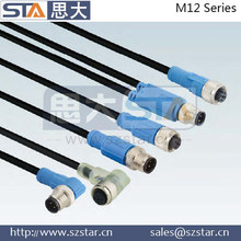 shield connector, moulded with high quality cable M12 connector