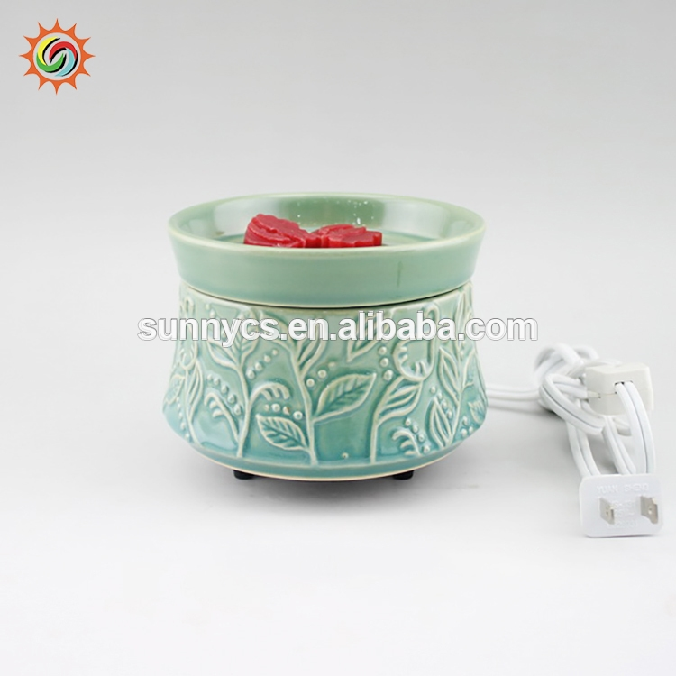 China manufacture melt scented ceramic candle elecrtic tart warmer
