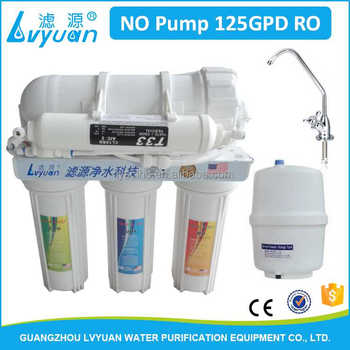 NO Pump Household Water Filter Revser osmosis 5 stages