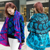Best-selling!!! Winter Wholesale New Arrival Acrylic Thick Oversize Cape Shawl Round Stole and Scarf in Round Shape