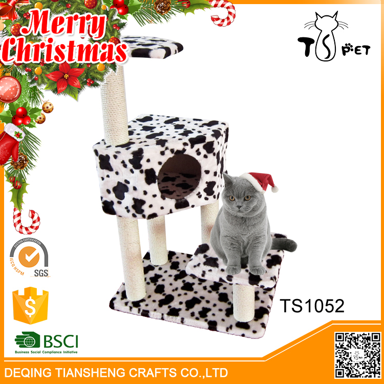 Christmas Sales Pet Houses Type and Cats Application Pet Furniture Cat Tree