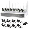Outdoor P2P Surveillance 8CH Wireless WIFI NVR camera kit/ 960P HD Mobile surveillance 8ch security system