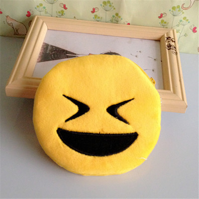 Cute Mini Change Coin Purses Smile Face Women Plush Purse Bag Lady fashion Children Wallets Pouch Girls Handbag Bolsa for Kids