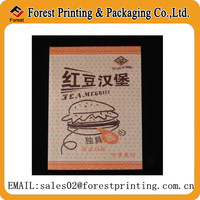 Hot sale kraft paper bag for hamburger packaging