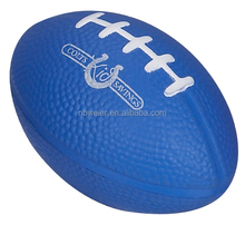 5.7x8.5cm hot selling promotional gifts PU stress American football/PU foam American football/PU toy stress American football