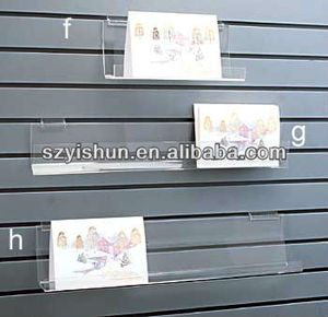 Customized acrylic shelf acrylic hanging wall shelf