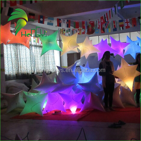 Colorful LED Inflatable Balloon Light for Night Party Decoration , Christmas Star Light