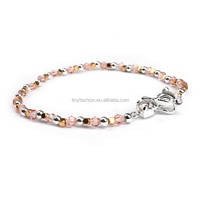 Supplier in Yiwu Chinese Jade Bracelet Section Quartz and Cubic Copper Beads Fox Charm Zircon Bracelet