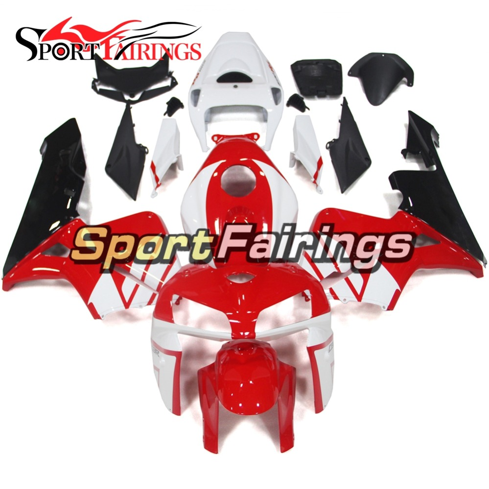 Complete Injection ABS Plastic Motorcycle Fairings For Honda CBR600 CBR600RR F5 05 06 Year 2005 2006 Red White Fairing kits