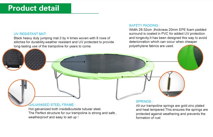 Funjump 13ft Outdoor Round Trampoline With Safety Net And