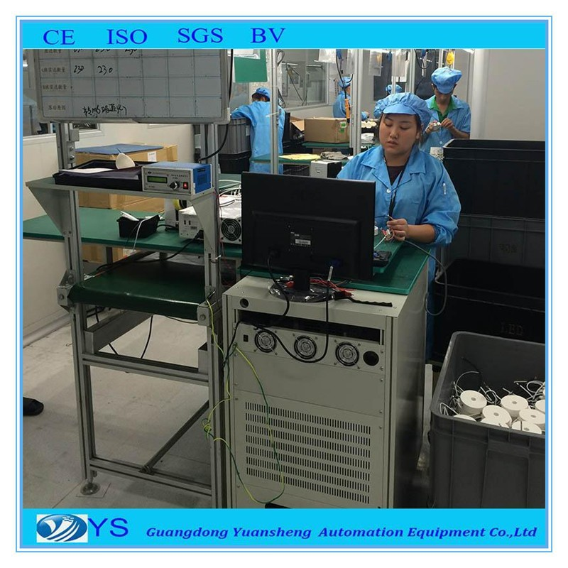 led bulb aging and assembly line equipment