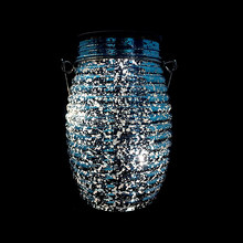 Wholesale Holiday decorations solar led garden light in glass jar / bottle for sale