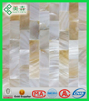 SM005 sea shells decoration white mother of pearl shell mosaic