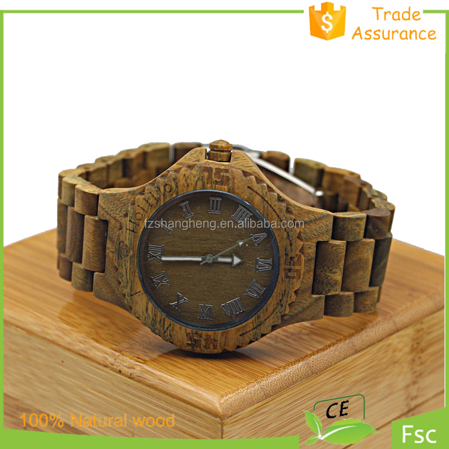 Natural wood Wrist Gift Women hand clock,wooden watches on sale