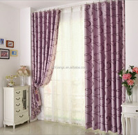 New curtain style jacquard curtain fabric with jacquard voile