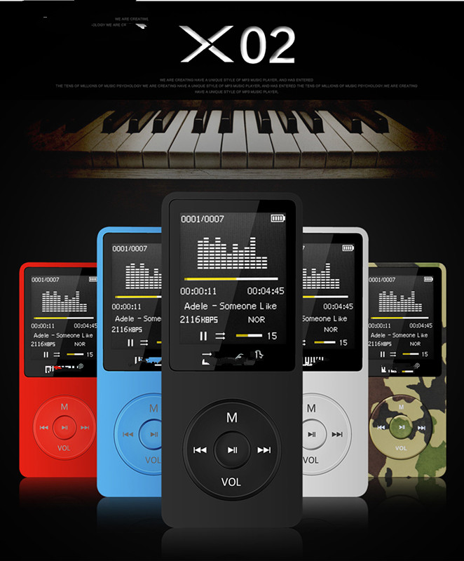100% original English version Ultrathin Digital <strong>MP3</strong> Player with 8GB storage and 1.8 Inch Display Screen can play 80h