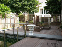 High Quality made in Japan/ 105mm*30mm silver Brown Trit wood plastic composite wpc swimming pool