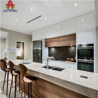 Bomei Factory European Modern Design Durable MDF Kitchen Cabinets and Cupboards with countertops