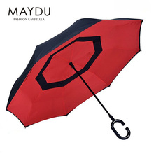 Shanghai MAYDU best selling double layers reverse upside down umbrella inverted