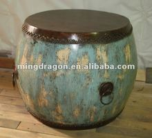 Chinese antique blue drum