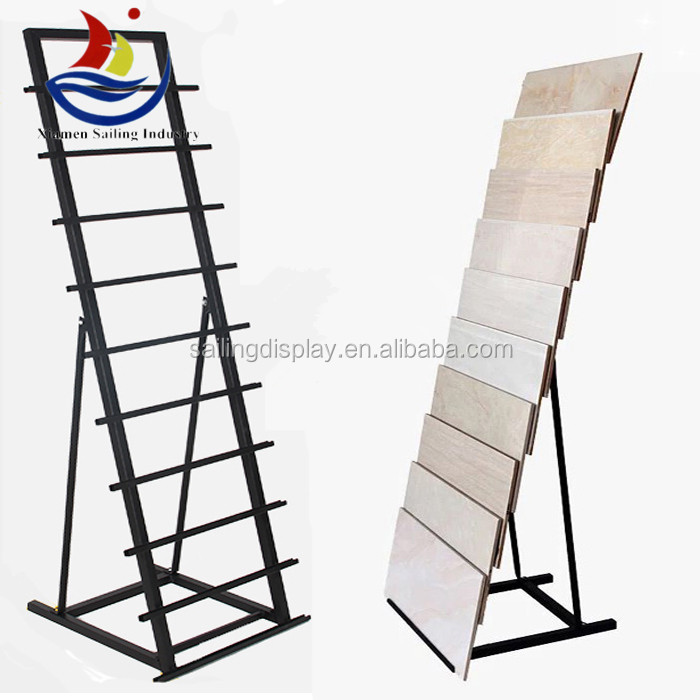 Cheap metal tile display stands for tiles Ceramic tile showroom display stand