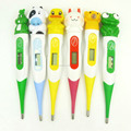Cartoon thermometer with 6 different animals