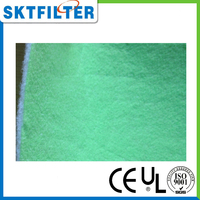Coarse filter cotton with surface glue