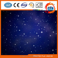 Night sky humidity resistant design pvc ceiling films with top technology with 15-year warranty for household
