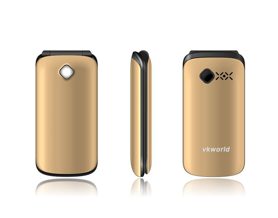 Vkworld Z2 Best Selling Unlocked Camera Multi-Languages 2*Sim 2.4 inch Flip Design Cheapest China Mobile Phone for Elder
