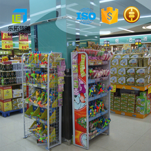 Customize Freestanding Display Stand / Rack With Wire Mesh in supermarket/store