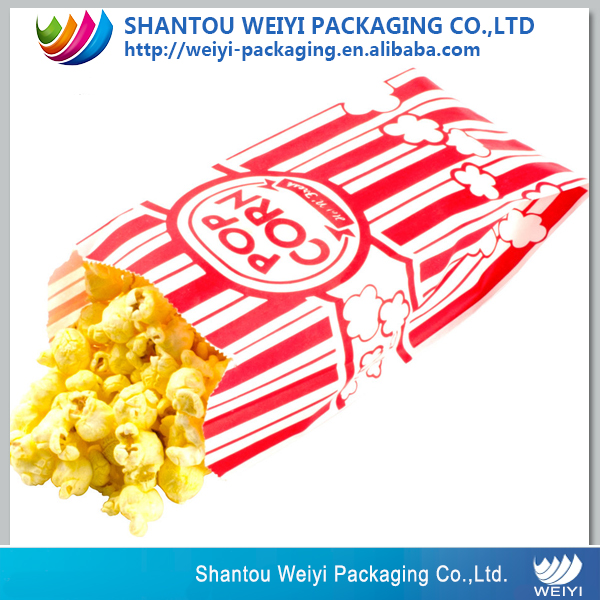 Custom print reusable microwave popcorn paper bags/food kraft paper bag EcoCraft packaging bag for popcorn