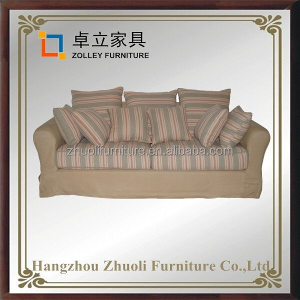 Chinese supplier Antique French Style Fabric Wooden Furniture Sofa