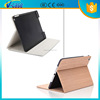 Customized logo Luxury wood pattern smart pu leather tablet cover case for ipad air 5