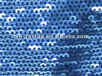 royal blue spangle 3mm sequin embroidery fabric