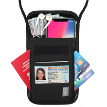 SGA00037 Waterproof RFID Blocking Neck Pouch Stash Travel Passport <strong>Wallet</strong>