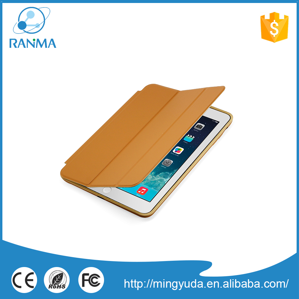 High Quality book style ultrathin pc leather case for ipad mini