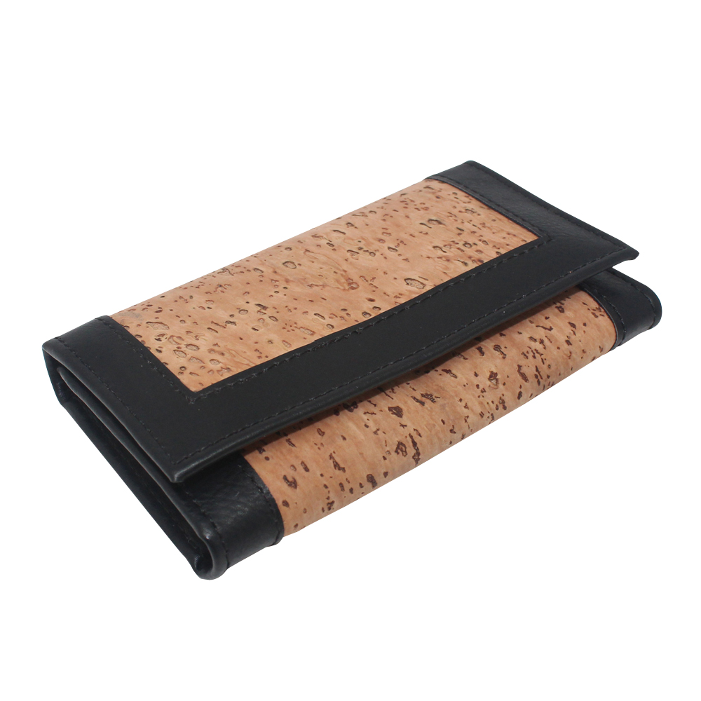 Boshiho leather car key cover with cork