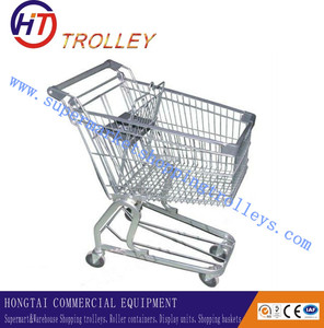 4 Wheels Small Grocery Carts Germany Hand Trolley with Baby Chair
